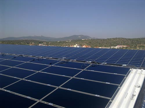 Photovoltaic Station 1 MWp on Industrial Roof - Magoula Attiki