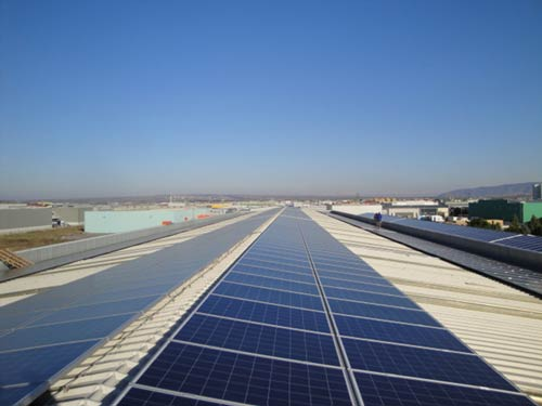 Photovoltaic Station 400 kWp on Industrial Roof – Industrial Area of Thessaloniki