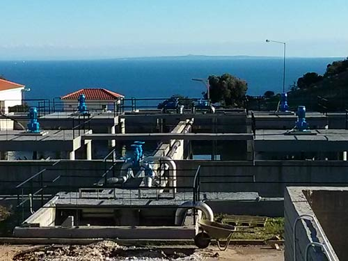 Wastewater Treatment facility in Poros-Skala of the municipality of Elios-Pronnon